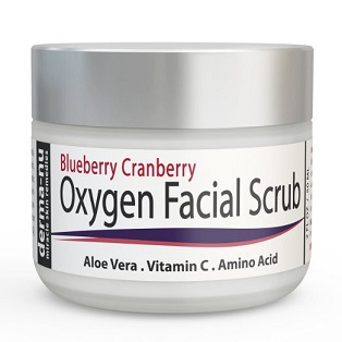 Affordable facial exfoliants - Blueberry Cranberry Oxygen Facial Scrub