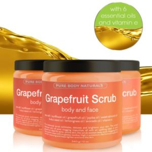 Grapefruit exfoliating face scrub