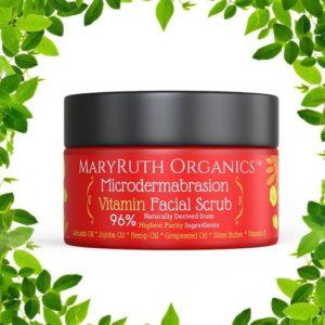 Microdermabrasion vitamin facial scrub