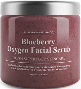 Pure Body Naturals exfoliating scrub - best exfoliating facial scrubs