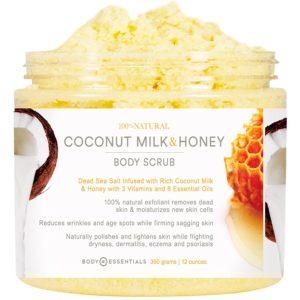 Body Essentials Coconut Milk & Honey Comb Body Scrub with Dead Sea Salt
