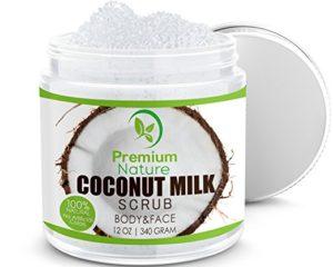 Coconut Milk Exfoliating Body Scrub by Premium Nature