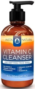 InstaNatural Vitamin C Facial Cleanser - how to prevent wrinkles step 1