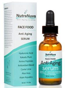 NutraNuva Face Food Vitamin C Serum to prevent wrinkles